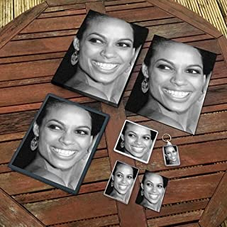 Rosario Dawson - Original Art Gift Set #js002 (Includes - A4 Canvas - A4 Print - Coaster - Fridge Magnet - Keyring - Mouse Mat - Sketch Card)