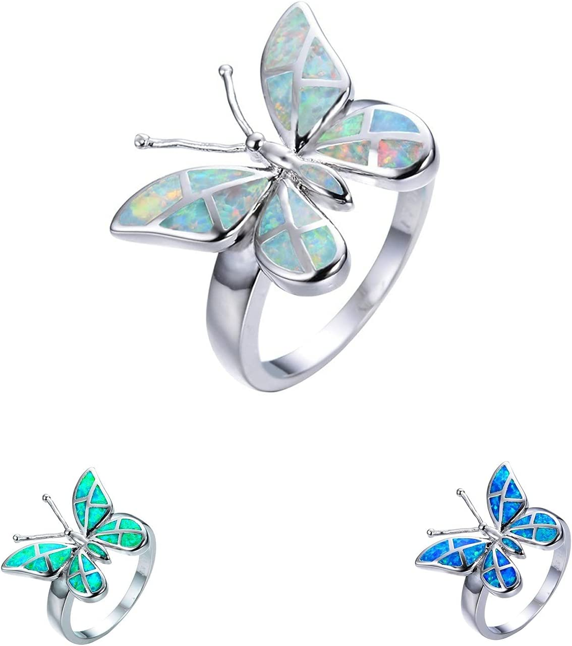 Mulyyds Butterfly Ring Solitaire Brand new Engagement Women for Popular overseas Her