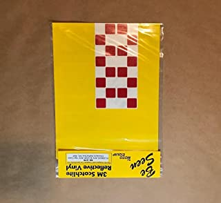 Moto Equip RED Checker Pattern Reflective Sticker Kit made from 3M Scotchlite Vinyl tape for BMW R1200GS Adventure Topcase/Trunk ME-RK-47R