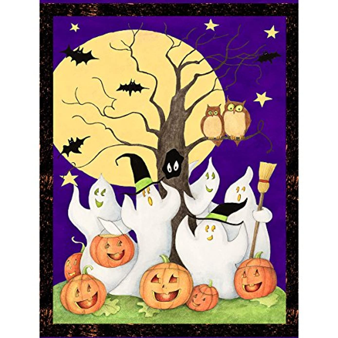 Springs Creative 100-Percent Cotton Ghost Story Wall Hanging, 43/44-Inch by 15-Yard, Multicolor