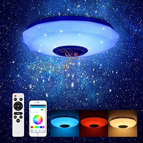 Vangonee - Lámpara de techo con diseño de cielo estrellado con Bluetooth, diseño moderno LED, compatible con control de aplicación o mando a distancia para sala de estar