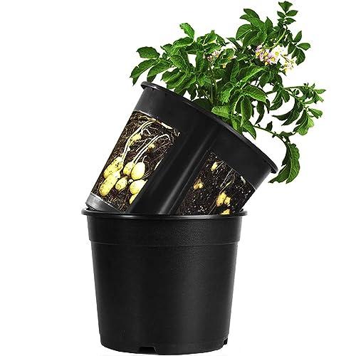 Garden Planter Pot 2 Piece Plastic Container For Growing Vegetables:  Tomato,Potato,