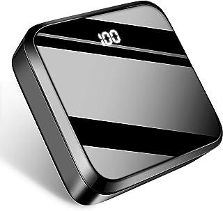 モバイルバッテリー 20000mAh 大容量PSE認証 LCD残量表示 鏡面仕上げデザイン 急速携帯充電器 2USB出力ポート&2入力ポート(MicroとType-C入力ポート)携帯充電器 Android/その他のスマホ/タブレット対応(ブラック)