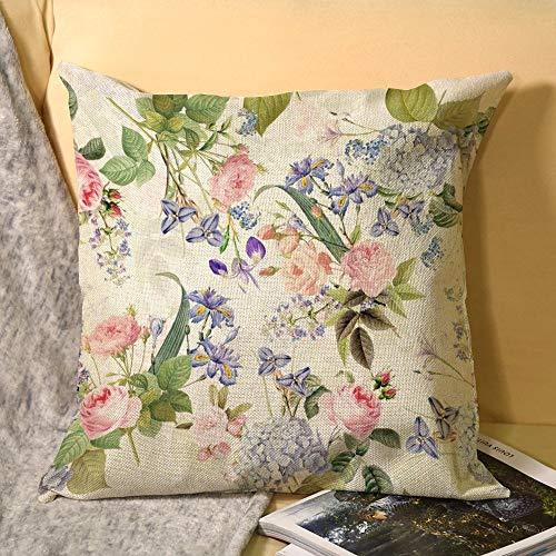 Redouté - Fundas de almohada con cremallera, 45 x 45 cm
