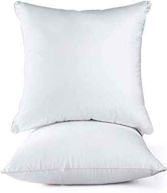 HOKEKI 18x18 Pillow Insert,Premium Pillow Stuffing Throw Pillow Insert,Square-18x18 Pillow Insert Set of 2,Pillows for Couch