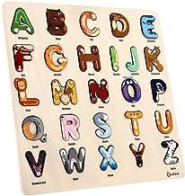 JPJ(TM)1pcs Hot Fashion Alphabet Puzzle Board Wooden Puzzle Birthday Boy Girl Educational Toy (B)