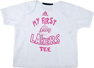 d9ccb9b68 adidas Nacido Bebé Mi Primer Los Angeles Lakers Camiseta de Color Blanco  Camiseta de Manga Corta