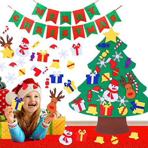SPECOOL DIY Christmas Tree niños Christmas Felt Tree