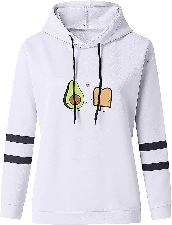 Drawstring Crop Tops Print Hoodies Long Sleeve Hooded Cropped Sweatshirts Casual Jackets for Womens