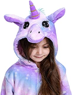 Animal Onesie Unicorn Pajamas for Kids Unisex Cartoon Outfit,One Piece Cosplay Sleepwear Jumpsuit