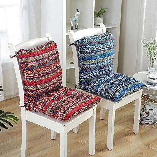 2set de cojines cuadrados para silla más gruesos para comedor, patio, oficina, interior, exterior, jardín, sofá, nalgas, cojín de 40 x 40 cm