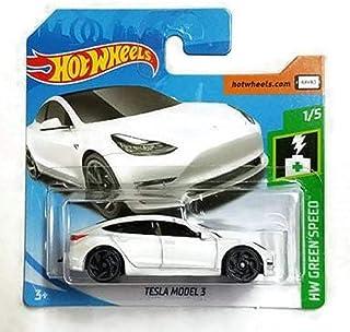 Hot Wheels HW Green Speed 1/5 Tesla Model 3 White