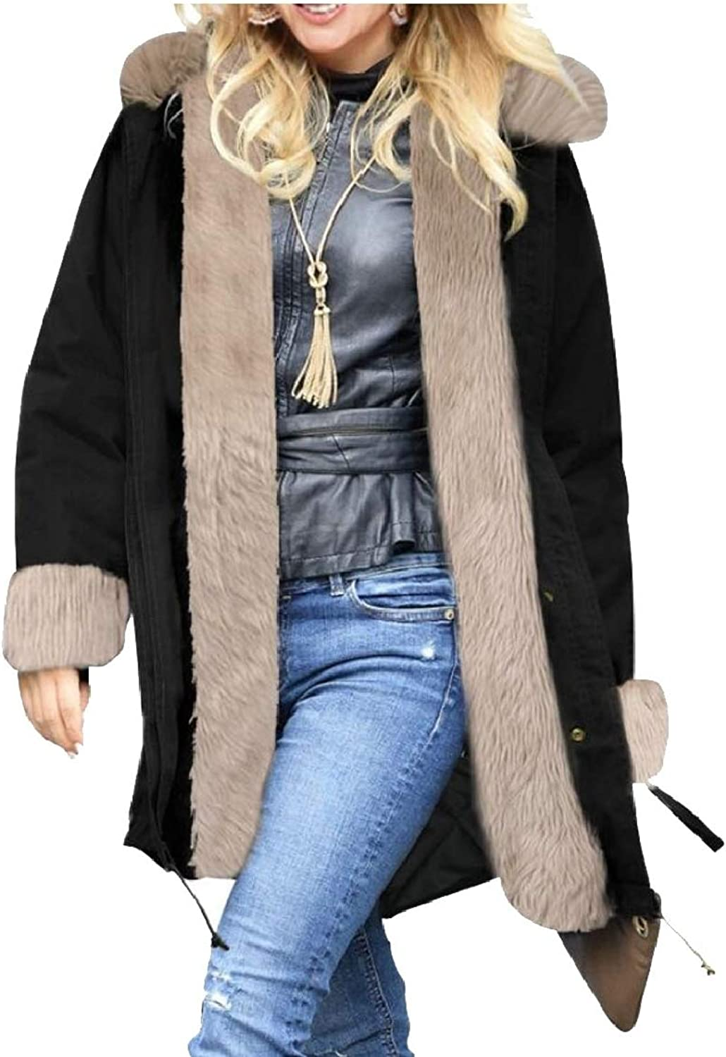 Women's Winter Thicken Hooded Casual Parka Jacket Coats