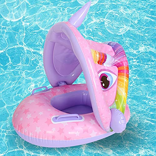 ISHOWTIENDA Niños Nadar Float Float con toldo Infantil Infantil Anillo Flotante para niños Accesorios de Piscina de natación Círculo Toys de Verano