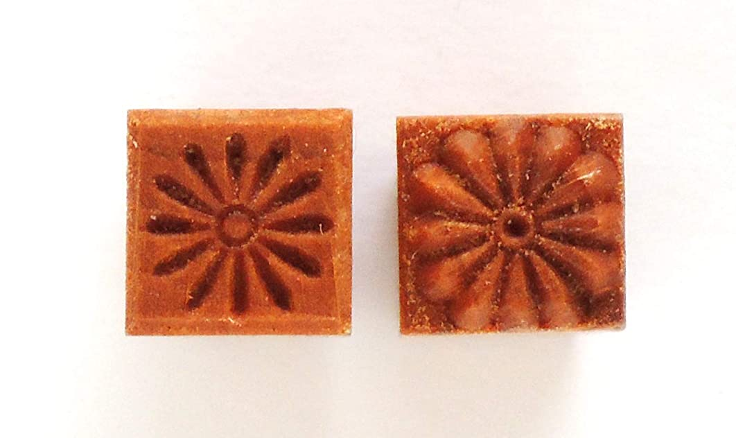 MKM Pottery Tools Stamps 4 Clay Small Square Decorative Stamp for Clay (Sss-103 Daisy)