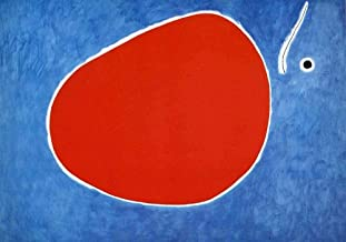 Handpainted Reproduction Joan Miro 90X65 cm (Approx. 36X26 inch) - The Flight of The Dragonfly in Front of The Sun Abstract Paintings Canvas Wall Art Poster Rolled