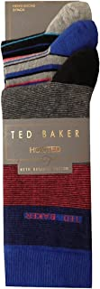 Ted Baker Mens 3 Pack Hoisted Socks > One Size UK 7-11 EU 41-46 Brown