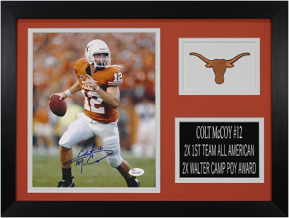 Colt safety McCoy Autographed Longhorns Photo Easy-to-use Beautifully and Matted -