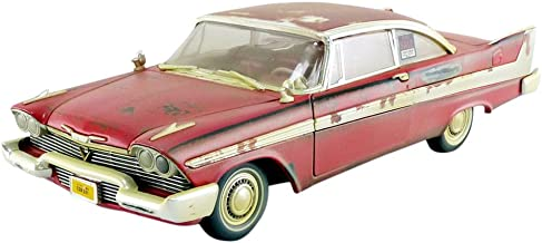 Auto World–Miniature Car Dirty Version Christine 1958Plymouth Fury 1/18Scale, awss119, Red/White