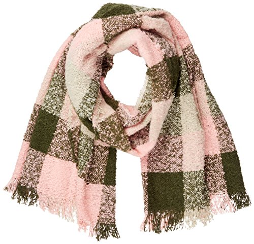 ICHI Dames A BEA CHECK SCARF sjaal, meerkleurig (Grape Leaf 13312), One Size