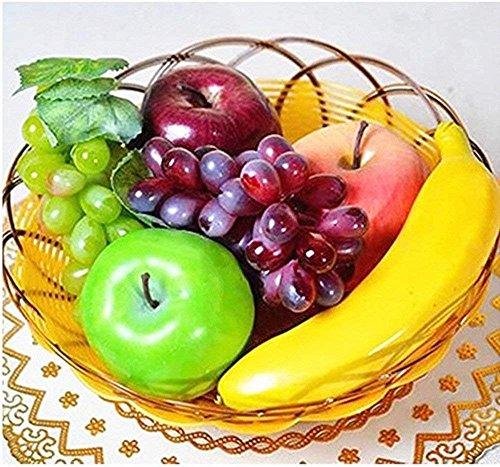 BeatlGem Plástico Artificial Mirada Realista 6 Frutas Mezcladas Frutas Simuladas de Plástico Decorativo Exhibición Decoración Creativa/Enseñanza