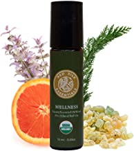 (Wellness) - Organic Wellness Essential Oil Blend, 100% Pure USDA Certified Organic - 10ml Pre-diluted Roll-on