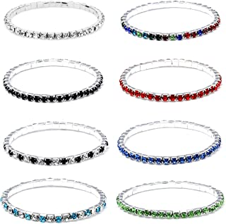 Sparkle Multicolor Rhinestone Stackable Stretch Bracelets for Women