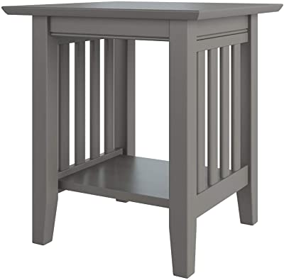 Atlantic Furniture Mission End Table, Grey