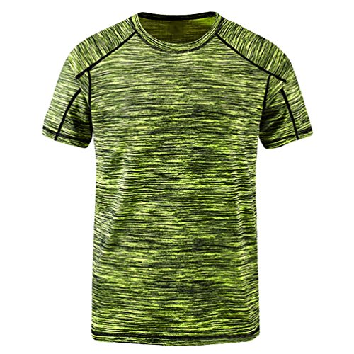 YiiJee Sports T-Shirt Unisex Kompressionsshirt Quick-Dry Kurzarm Top T-Shirts Als Bild2 XL