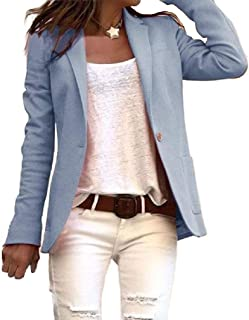 Howely Womens Fashion Slim-Fit Solid Long Sleeve Jacket Small Blazer