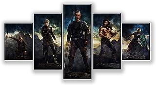 ADGUH 5 Cuadro sobre Lienzo5 Piezas HD Fantasy Art y Wolf Picture Metal Gear Solid 5 Juego Poster Artwork Canvas Paintings Wall Art para la decoración del hogar5 Impresiones sobre Lienzo