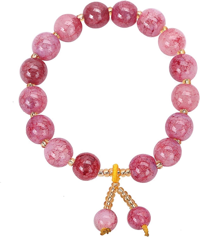 Janvovit Blue Crystal Bracelet for Women Ice NEW before selling ☆ Be Crack Ranking TOP5 Round DIY