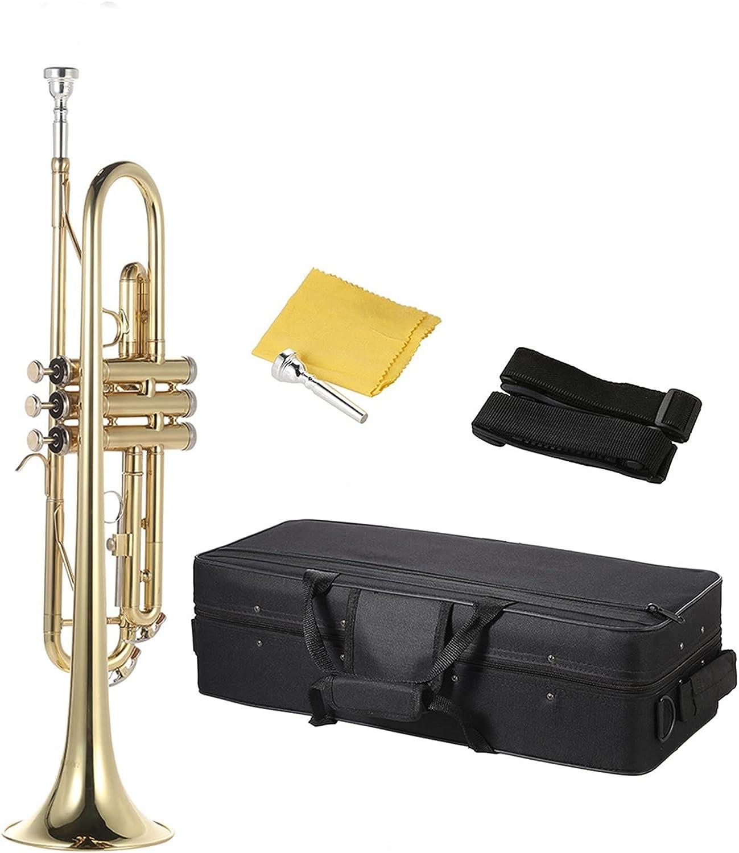 Standard Trumpets Trumpet Bb B Columbus Mall Brass Super-cheap Flat Gold-Painted E