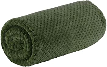 uxcell Pet Dog Blanket, Flannel Fleece Puppy Blanket Solid Plush Warm Rug Blankets and Throws for Small-Medium Dogs Cats Doggy Sleeping Mat, 30 x 40 Inches,Army Green