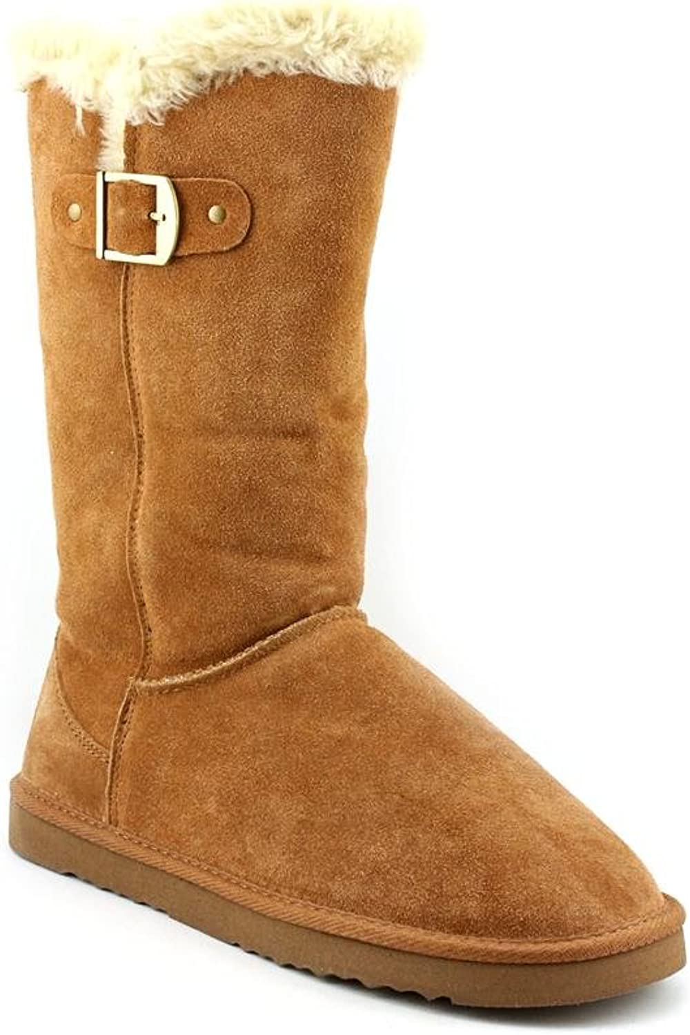 Style & Co Bode Womens Size 6 Tan Suede Fashion Mid-calf Boots