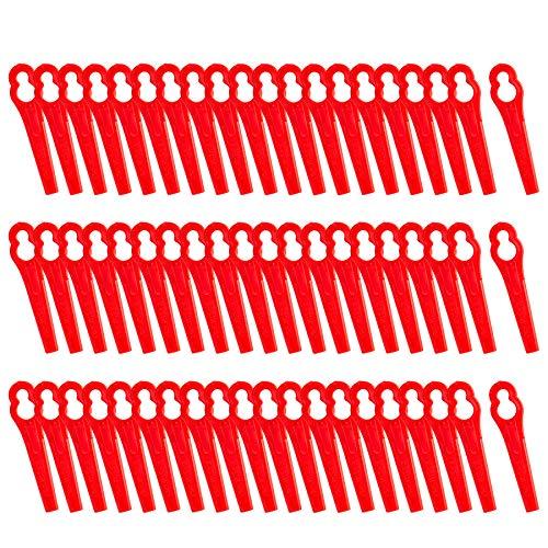 FORMIZON 60 Pcs Cuchillas de Plástico, Cuchillas de Recambio para Cortacésped Bosch,...
