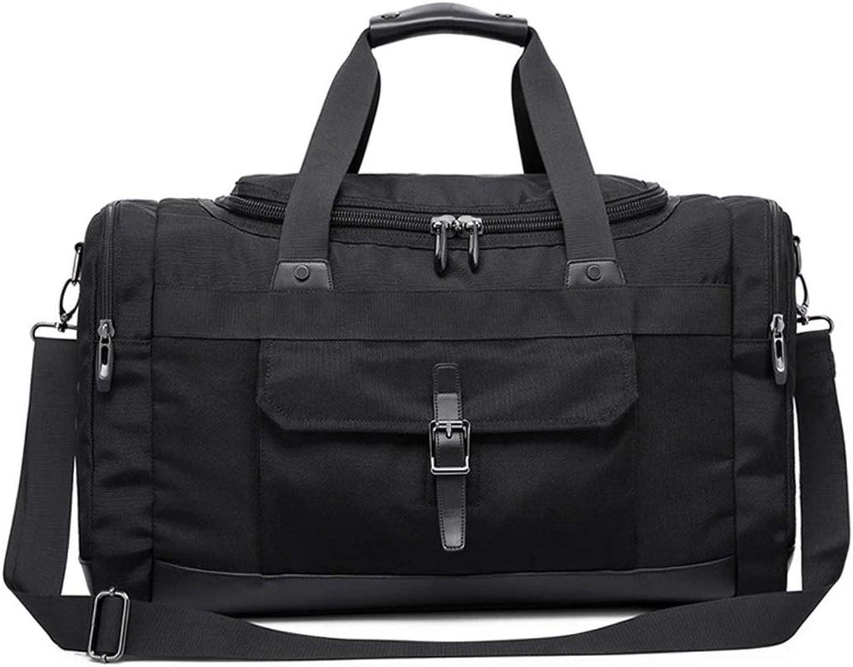 ArotOVL Portable Herren Schwarz Large Capacity Reisetaschen Schulter Leichte Reisetaschen (Farbe   schwarz)