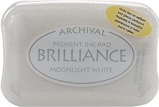 Tsukineko Brilliance Pigment Inkpad, Matte Moonlight White