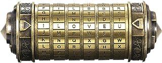Festnight Boîte à Bijoux avec Le Seigneur des Anneaux Rétro, Mini Cryptex Lock Romantique Cadeau Saint Valentin Anniversai...