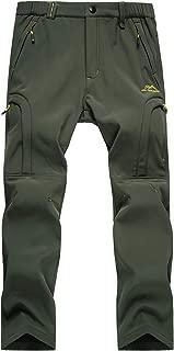 MAGCOMSEN Men's Winter Fleece Lined Pants with 5 Zip Pockets Softshell Hiking Snow Ski Pants
