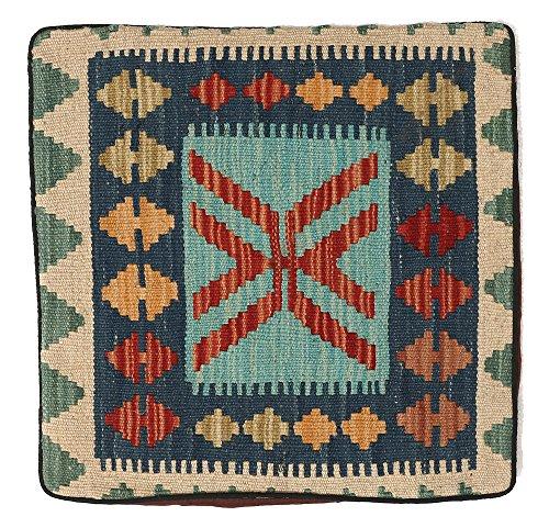 WR Home Decore Tapis Kilim Authentique Fait Main Housses de Coussin, 45cmx45 cm (165b), Guide de Cadeau de Noël et Nouvel an