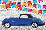 Photocall Coche de Juguete Azul Marino Eventos o Celebraciones   Medidas 2,00 m x 0,68 m   Fiestas Celebraciones   Cartón Microcanal