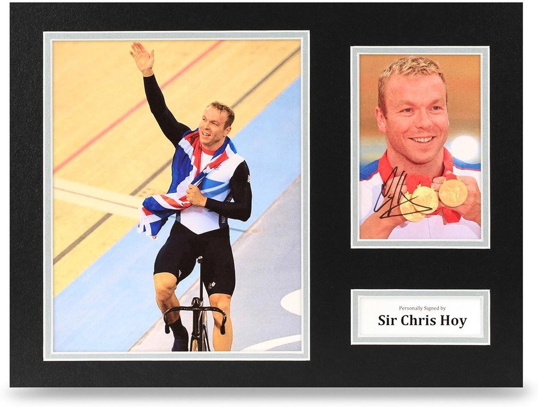 Sir Chris Hoy Signed 16x12 Photo Display Olympic Cycling Autograph Memorabilia