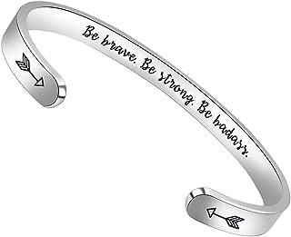 Inspirational Bracelets for Women Teen Girls Personalized...