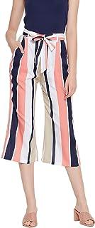 AAROJ Women Multi Colour Stripe Print Palazzo Pants