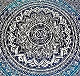 El Ático Home. Tapiz de Pared Grande 240x210 cm. Tapiz Mandala para Decoración. Tapiz Decorativo Hogar para Colgar en la Pared. Mandala Hippie Bohemio para Dormitorio. Tapiz de 100% Algodón.