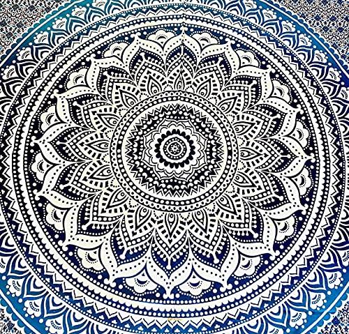 El Ático Home. Arazzo da parete grande 240 x 210 cm. Arazzo mandala per decorazione della casa, da appendere alla parete. Mandala hippy bohémien per camera da letto. Arazzo in 100% cotone.