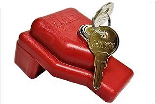 JENDYK Glad-KD Red Plastic Glad Hand Lock (Keyed Differently), 1 Pack