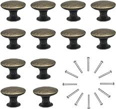 Natuce Commodeknoppen ladeknoppen set 12 stuks meubelknop schuifladegrepen vintage messing antiek φ30 mm knop voor kast la...