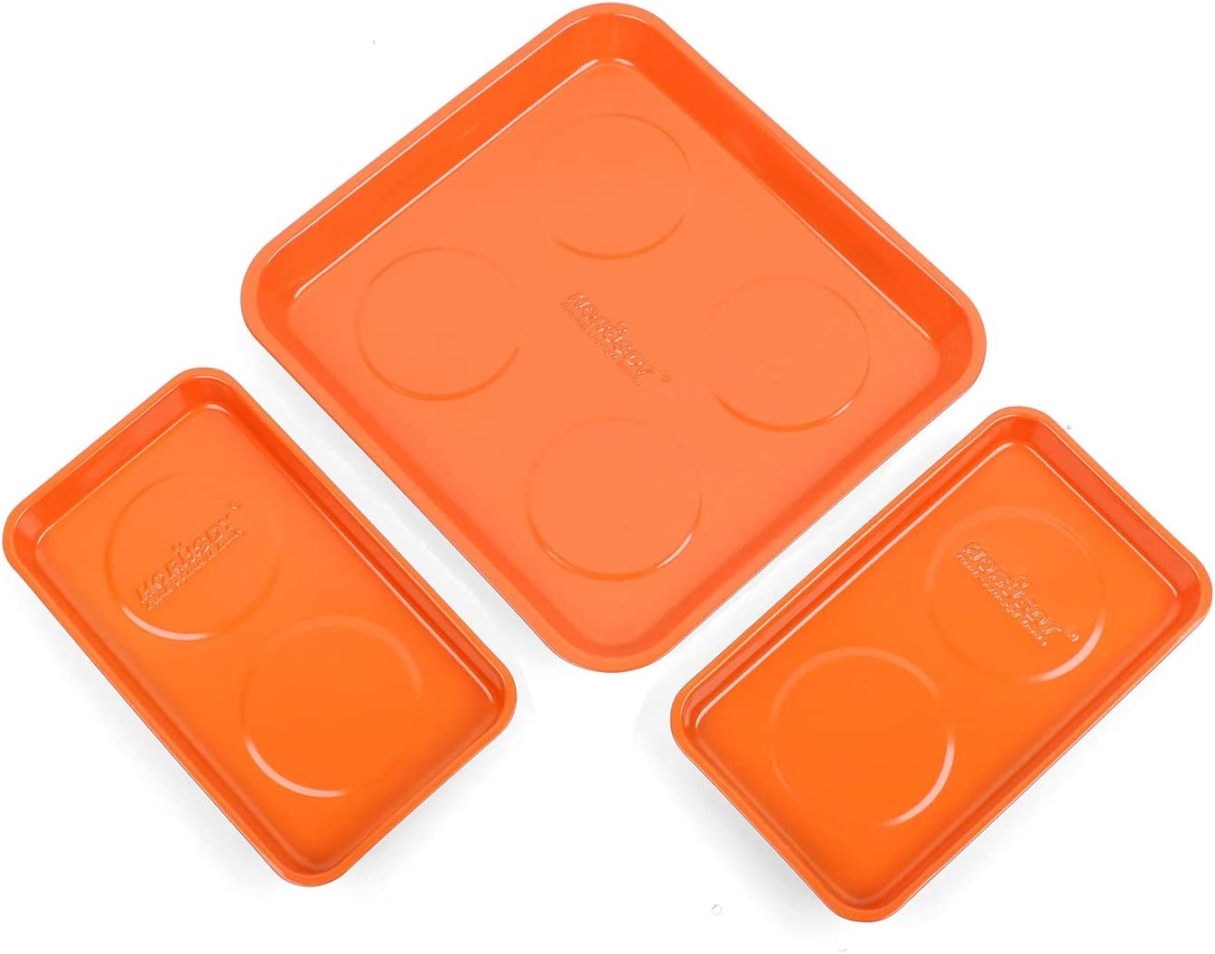 HORUSDY Cheap super special price 3-Piece Super Large Magnetic Max 70% OFF Stainless Set S Tray Parts